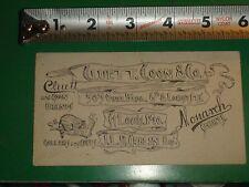 ZU034 Vintage Business Card Ad Cluett Coon & Co Brands Collars Cuffs St.Louis MO