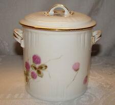 Antique CFH / GDM Limoges Covered Condensed Milk Container Jar c 1882 - 1900