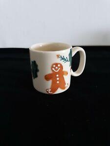 "Hartstone Christmas Traditions 3.75"" Mug Gingerbread Holly Stoneware"