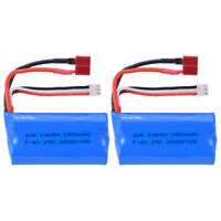 2x 7.4V 1500mAh Li-Ion Batterie T Stecker Akkus für WLtoys 12428 12403 RC Auto