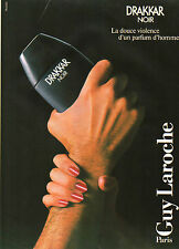 Publicité Advertising 1987  Parfum DRAKKAR NOIR de GUY LAROCHE