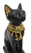 Egyptian Cat Bastet Mini Miniature Cute Statue with Scarab Figurine 5.25H
