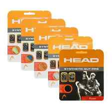 2 Sets Head Synthetic Gut PPS 16G Tennis String - White