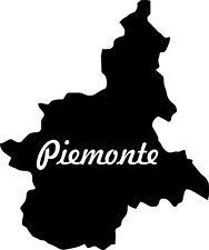 """2x Auto Aufkleber Italien Region """" PIEMONT """" 11x9 cm Car Sticker"""