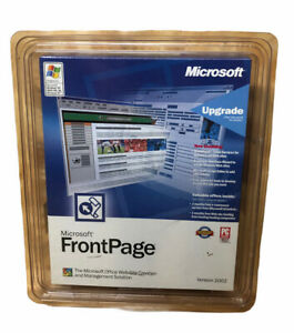 Microsoft Front Page Web Site Creation & Management Software Frontpage 2002