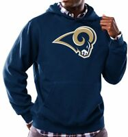 NFL Majestic Men's Long Sleeve Tek Patch Hooded Fleece Pullover *Choose Team*