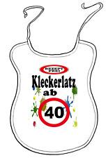 """Scherz-Latz für Erwachsene zum Geburtstag """"ab 40 Jahre"""" Kleckerlatz"""