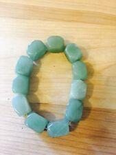 HEAVY Chunky Green Quartz Healing Stone Bracelet Vermarine