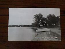 Lakeside Motor Court Big Lake Minnesota MN Vintage Postcard RPPC