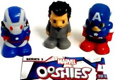 Ooshies Marvel Series 2 Toys/ pen toppers X3