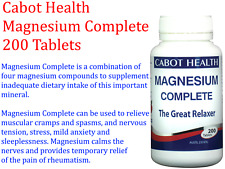 CABOT HEALTH Magnesium Complete 200 Tablets DR SANDRA The Great Relaxer