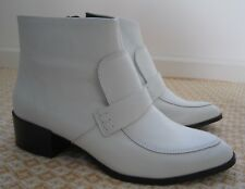 NEXT Signature ANKLE Boots MID Heels OFF White soft 100% real LEATHER EU 38 UK 5