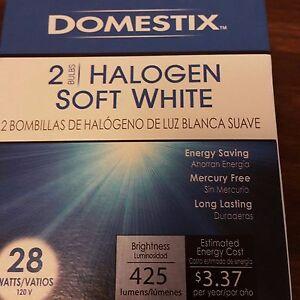 Domestix 28w 120v A-Shape A19 Soft White 425 Lumens Halogen Bulb - 24 BULBS