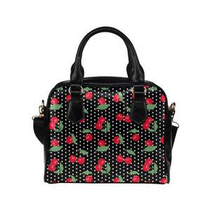 Cherry Print Ladies Small Handbag, Crossbody bag, Summer, Rockabilly