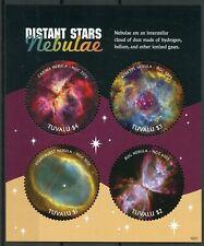 Tuvalu 2018 MNH Distant Stars Nebulae Carina Rosette Nebula 4v M/S Space Stamps