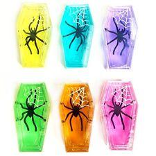 Lot de 6 Spider cercueil Mastic-Gluant Squishy Toys-Assortiment Couleur-Halloween