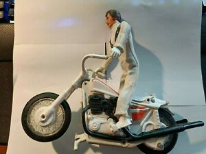 Vintage 1970s Evel Knievel Action Figure and Bike original clothes