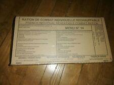 Lot de 12 Rations de Combat Individuelle Réchauffables armée française Menu n°14