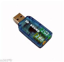 carte son usb Adaptateur Carte Son externe USB 3D Stéréo 5.1 carte son externe