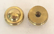 New: Lot of 2 solid brass polished cap nuts tapped #8-32 screw hole lamp parts