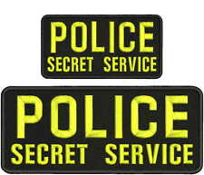 POLICE secret service  embroidery patches 4x10 & 3x6 hook on back