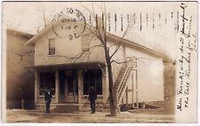 1907 RPPC Wellsburg NY C.I. Collins Jeweler Owego PM RARE Real Photo Postcard