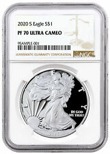 2020 S Proof American Silver Eagle San Francisco Issue NGC PF70 UC Brown PRESALE