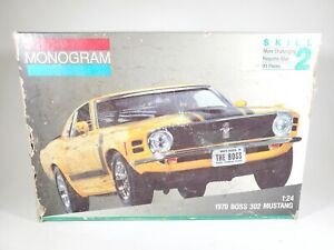 Monogram 1970 BOSS 302 MUSTANG 1/24 Scale Model Car Kit - Open Box - Incomplete