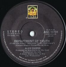 Alice Cooper ORIG OZ 45 Department of youth EX '75 Anchor ANC10731 Hard Rock