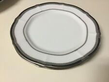 2 Noritake Bread and Butter Plates --- Gilded Platinum