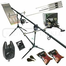 Carp Fishing Starter Set Up Kit Rod Reel Alarm Rod Pod Bait Tools & Tackle