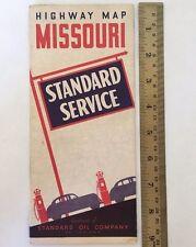 Standard Oil Company Service Highway Map Missouri Red Crown 1939 U3512
