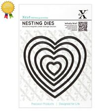 Xcut Metal Nesting Dies *HEARTS* 5 Piece - by DoCrafts - Die Cutting Heart