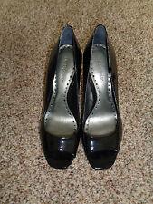 BCBGirls Black Open Toe Pumps Size 8.5  (3528)