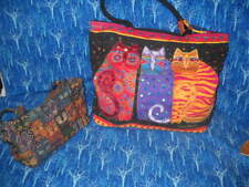 "FELINE FRIENDS, ""LAUREL BURCH"" LARGE WEEKENDER BAG & SMALLER PURSE"