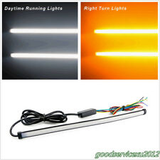 2 Pcs 45cm Autos Tube Strip Switchback Flowing LED Lights Flashing Lamps 2-Color