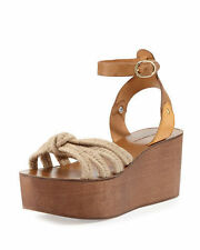Isabel Marant Natural Zia Leather and Rope Sandals sz 41 new