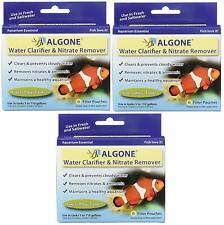 New listing Algone Water Clarifier and Nitrate Remover for Aquariums 6 filters 3 Pack