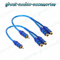 Pair of RCA Y Splitter Lead / Convertor Adapter 2 x Female TO 1 x Male