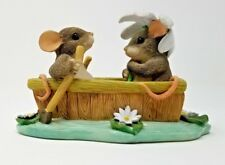 Fitz and Floyd Charming Tails Row Boat Romance Collectible Figurine 83/801 Mice