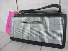 Betsey Johnson Plaid Wristlet Wallet With Mirror ~ NWT