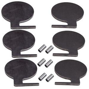 """6pcs 6"""" x 3/8"""" Tartger Pad AR500 Steel Cible Duel Arbre À faire soi-même Kit"""
