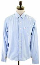 HOLLISTER Mens Shirt Medium Blue Cotton  HY10