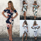 Fashion Women Summer Boho Floral Beach Dress Evening Cocktail Long Maxi Dress #C