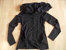 ZEITLOS by LUANA Jerseyjacke hoher Kragen schwarz Lagenlook Gr. 1 NEUw. FK1215