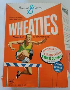 Wheaties flattened cut out Vtg Cereal box Advertisement Spinner Baseball General