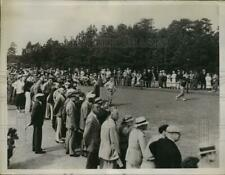 1936 Press Photo Paul Runyan driving from 1st tee during North & South Open