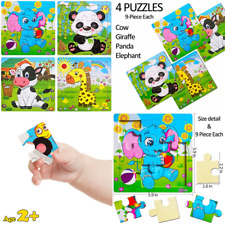Wooden Jigsaw Puzzles Set For Kids Age 2 5 Year Old Animals Preschool Toddler Ch