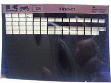 Kawasaki KX125 1984 Parts Microfiche NOS k170
