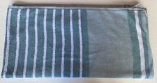 t0ru melange heathered strip bath towel ( blue/white)